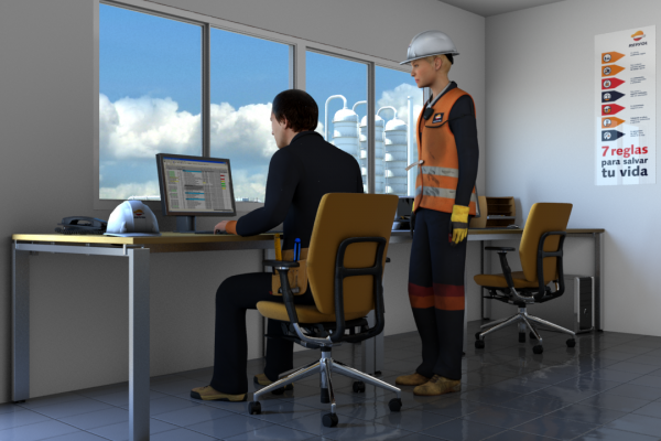 3D Refinery safety simulation